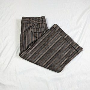 Diane Von Furstenberg Libby Capri 8 Brown Striped